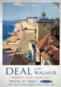 Deal and Walmer, Kent. Vintage BR (SR) Travel poster by Frank Sherwin. 1952